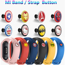 buckle For xiaomi miband 4 Strap Mi Band 4 3 2 1 Strap Pattern button bracelet Miband 4 limited edition wrist strap accessory(China)