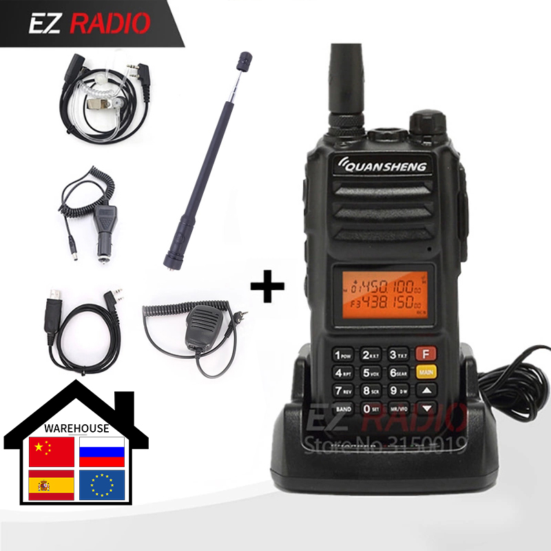 Police Band Original Quansheng TG-UV2 Plus 10W Radio 10KM Talkie Walkie 10 Km Upgrade Of Tg-uv2 Ham Radio 10W Walkie Talkie 10km