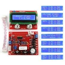 0 28V 0.01 2A 조정 가능한 DC 조정 전원 공급 장치 DIY 키트 LCD 디스플레이 조정 된 전원 키트 단락 회로/전류 제한 보호