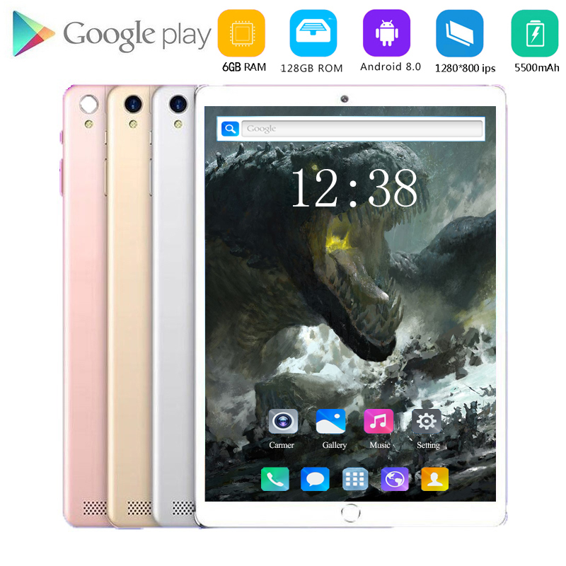 2020 New Tablet Pc 10.1 Inch Android 8.0 Tablets 6GB+128GB 8 Core 3g 4g LTE Phone Call IPS Pc Tablet WiFi GPS 10 Inch Tablets