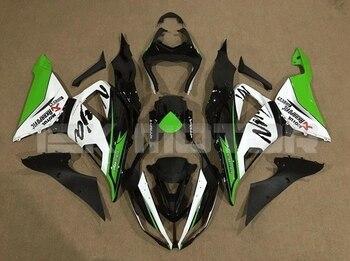 4 regalos nuevo kit de carenados completos de motocicleta ABS para Kawasaki ZX-6R 636 2013 2014 2015 2016 2017 conjunto de carrocería verde blanco