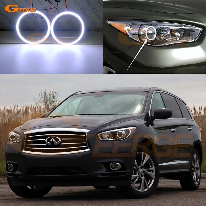 For <font><b>Infiniti</b></font> <font><b>QX60</b></font> <font><b>JX35</b></font> 2011 2012 2013 2014 2015 Excellent Ultra bright illumination COB led angel eyes kit halo rings image