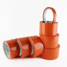 New Plastic Adhesive Tape 7.2cm/6cm/4.8cm/3.6cm/2.4cm Courier Sealing Tape Orange BOPP Packing Tape Business Supplies 11 Sizes