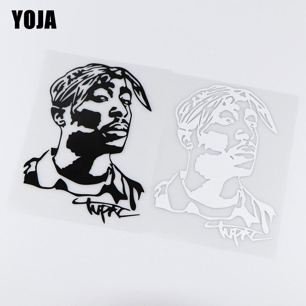 YOJA 13X17.8CM Tupac Hip Hop Musician Vinyl Decal Creative Art Car Sticker ZT4-0083