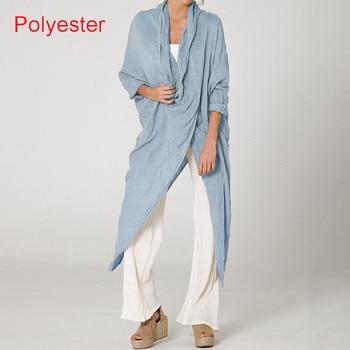 Plus Size Women Tops and Blouse 2021 Celmia Autumn Vintage Long Blouses Casual Cowl Neck Long Sleeve Asymmetric Party Blusas 5XL 9