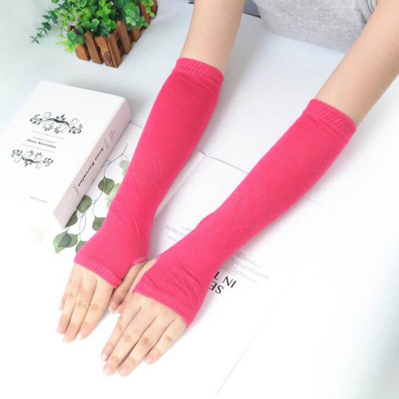 Calymel New Arm Sleeves Autumn And Winter Women's Sleeves Long Gloves Half Finger Sleeves 7 Colors Warmer Sleeves