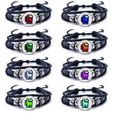 Charms Bracelet Among Us Anime Jewelry Boy Game Colourful Hot Kids