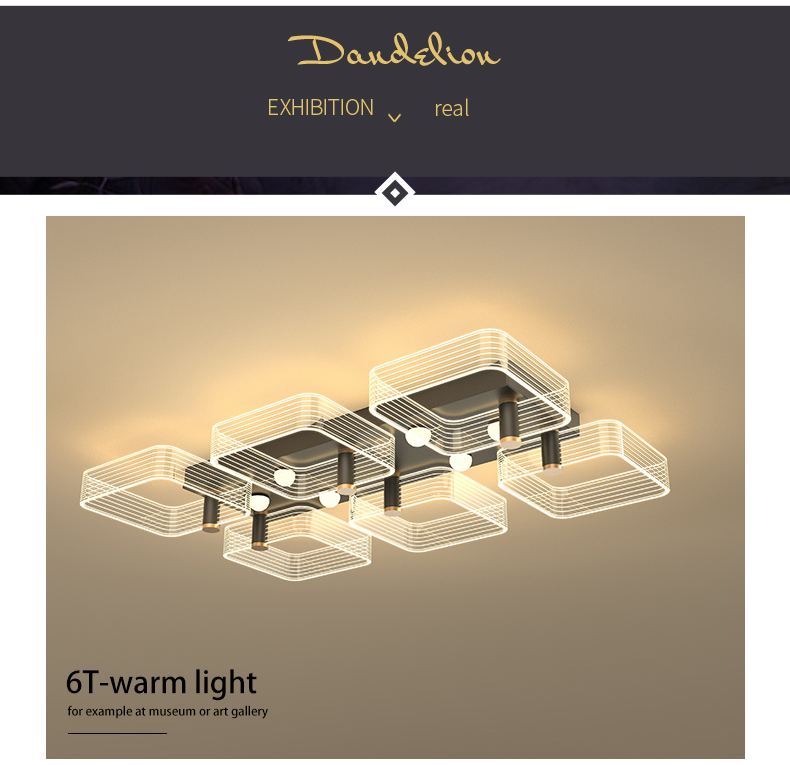 Led luz de teto moderno lustre lâmpada