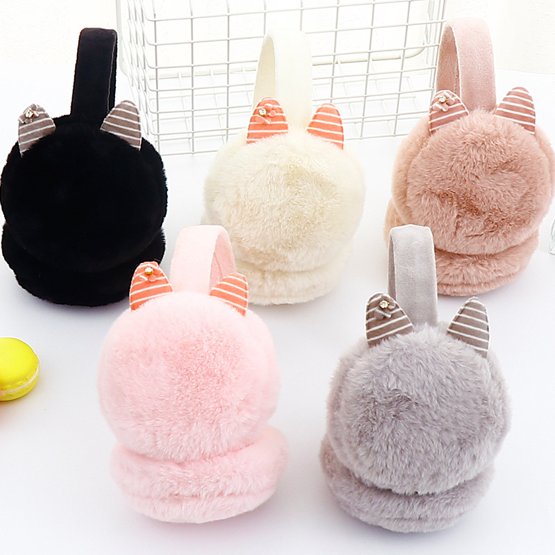 Winter Unisex Men And Women Warmer Earmuff Warm Plush Cloth Ear Muffs Cover Earwarmers Ear Muffs Earlap Warmer