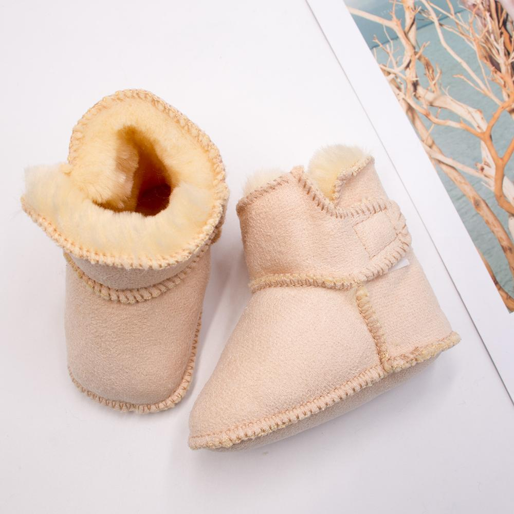 Winter Snow Boots For Baby Leather  Faur Toddler Botas Infant Boots Boy Girls Bootie Kids Snowshoes Handmade