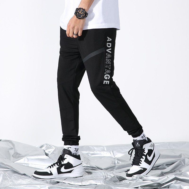 Bib Overall Men's Popular Brand Korean-style Trend Beam Leg Harem Capri Pants Summer Thin Section BOY'S Casual Breathable Casual