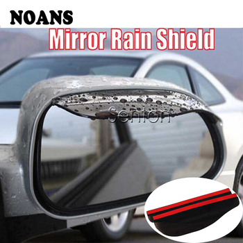 2pcs For BMW e46 e39 e36 Audi a4 b6 a3 a6 c5 Renault duster Lada granta Car Rain Eyebrow Rear View Mirror Sticker image