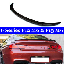 For BMW 6 Series F12 M6 F13  2011-2018 Car Styling Carbon Fiber Rear Trunk Wing Lip Spoiler