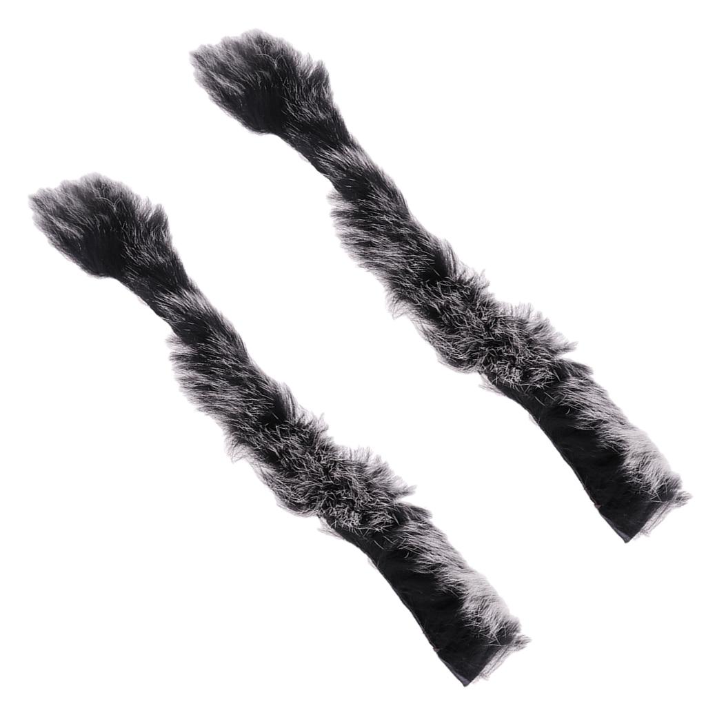1 par de amortiguadores de pelo de conejo Artificial con cuerda de arco silenciador