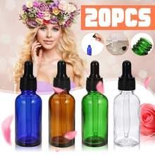 5/8/10/20pcs Brown Drop Amber Bottle Glass Aromatherapy Liquid Dropper essential basic massage oil Pipette Refillable Bottles