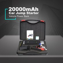 цена на EU/US/UK/AU 20000mAh Portable Car Jump Starter with Safety Hammer Battery Booster Charger Charging Power Bank Starting Device