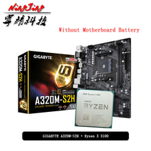 AMD Ryzen 3 3100 R3 3100 CPU + GIGABYTE GA A320M S2H Motherboard Suit Socket AM4 CPU + Motherbaord Suit Without cooler