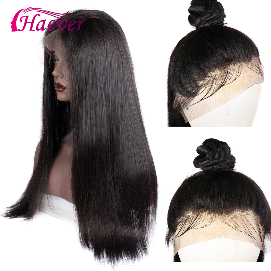 Haever 13X4 Lace Closure Wig New Hair Human Hair Wigs 180 Density Brazilian Straight  For Black Women Hairstyled Pre-Plucked