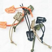 5 шт/лот Молл Карабин для рюкзака EDC инструмент эластичный веревочный Ремень Пряжка для намотки