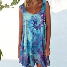 New Women's Summer Sleeveless Tank Plus Size Printed Comfortable Loose Versatile Dress