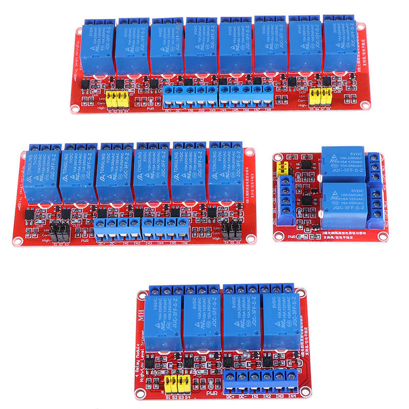 Relais Module Board Shield Met Optocoupler Road Hoge En Lage Niveau Trekker Relais Voor Arduino 5V 2 4 6 8 kanaals