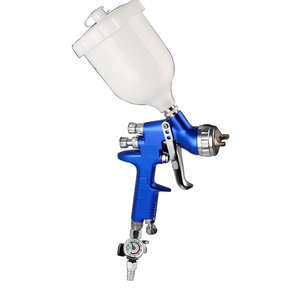 H-2000 Spray Gun Professional HVLP Mini Air Paint Spray Guns Airbrush For Painting Car Aerograph 0.8mm/1.0mm Nozzle