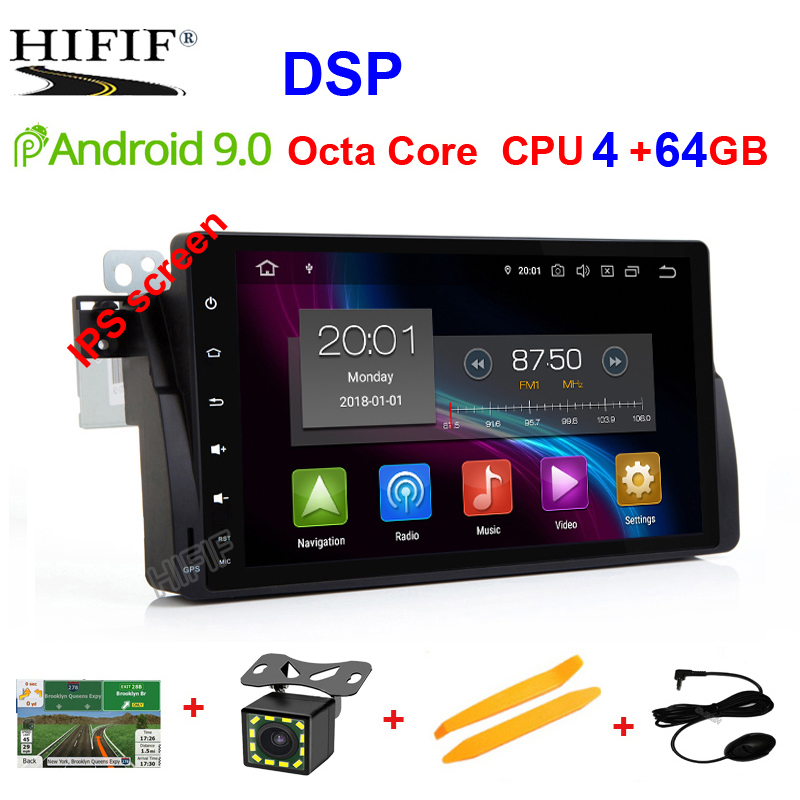 IPS DSP <font><b>Car</b></font> Multimedia Player Two <font><b>Din</b></font> Automotivo <font><b>Android</b></font> 9 For BMW/E46/M3/MG/ZT/Rover 75 GPS <font><b>Radio</b></font> FM Octa Core <font><b>RAM</b></font> <font><b>4GB</b></font> GSP DVR image