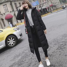 Plus size women X-long Parkas jacket Casual solid thicken warm Hooded Jacket coat -25degrees outwear clothing M-6XL