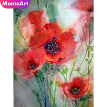 MomoArt Diamond Embroidery Flowers Painting Full Drill Square Rhinestone Wall Decoration Mosaic Landscape