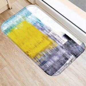 Image 3 - 40*60cm peinture à lhuile Art tapis de sol anti dérapant daim tapis tapis de porte cuisine salon tapis de sol chambre tapis de sol décoratif.