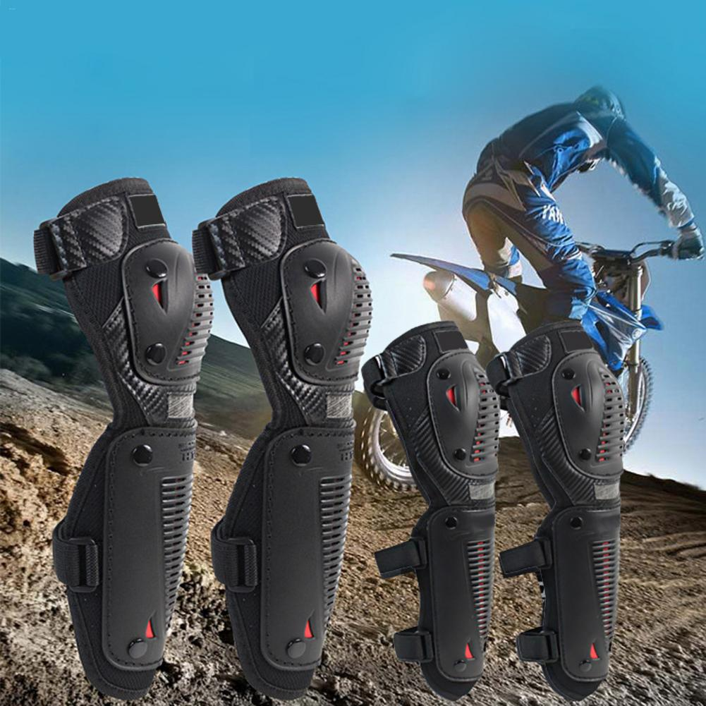 4PCS Off Road Vehicle Riding Shatter Resistant Knee Pads Elbow Equipment Motorcycle Elbow And Knee Pads Protector Guards Kit