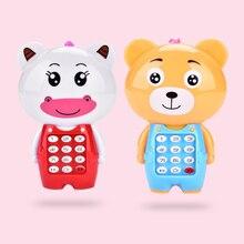 Электронный игрушечный телефон музыкальный Мини Симпатичный детский телефон игрушка раннее образование мультфильм мобильный телефон детские игрушки