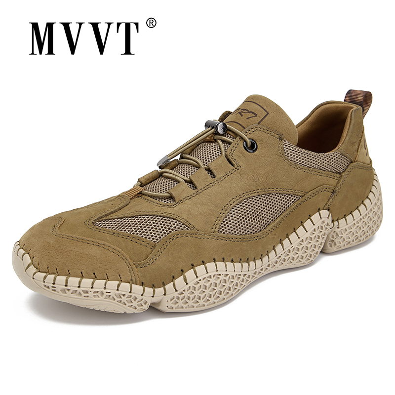 Breathable Fashion Men Sneakers Nubuck Casual Leather Shoes Men Comfortable Men Loafers Leather Men Shoes Walking Zapatos
