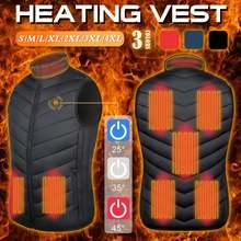 Жилет с подогревом куртка 8 зон теплая usb зарядка для мужчин