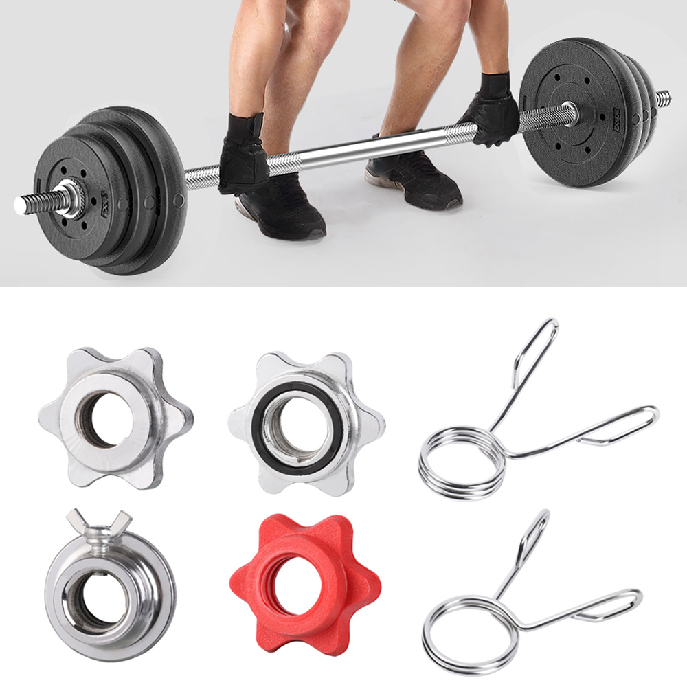2Pcs 50mm Barbell Clamp Collar Clip Weight Dumbbell Spinlock Lift Spring Lock