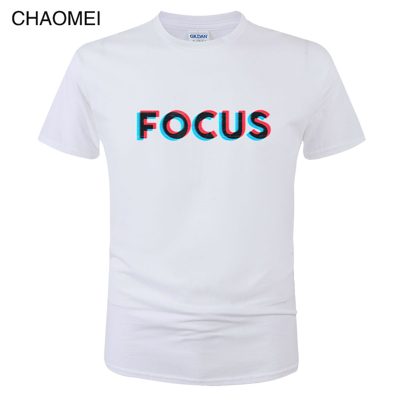 100% Cotton Short Sleeve Focus Print Funny Men Women T Shirt Camisa Hombre Casual Summer T-Shirt Unisex Tops Tees C08