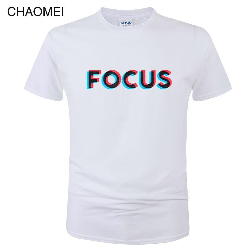 100% Cotton Short Sleeve Focus Print Funny Men Women T Shirt Camisa Hombre Casual Summer T-Shirt Unisex Tops Tees C08