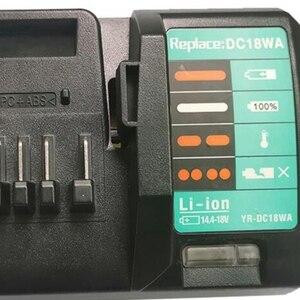 Image 4 - 14.4V 18V Charger DC18WA for Maktec MAKITA DC18SG DC1851 BL1813G BL1415G BL1815G BL1413G UH522D UM167D UR180D(EU Plug)