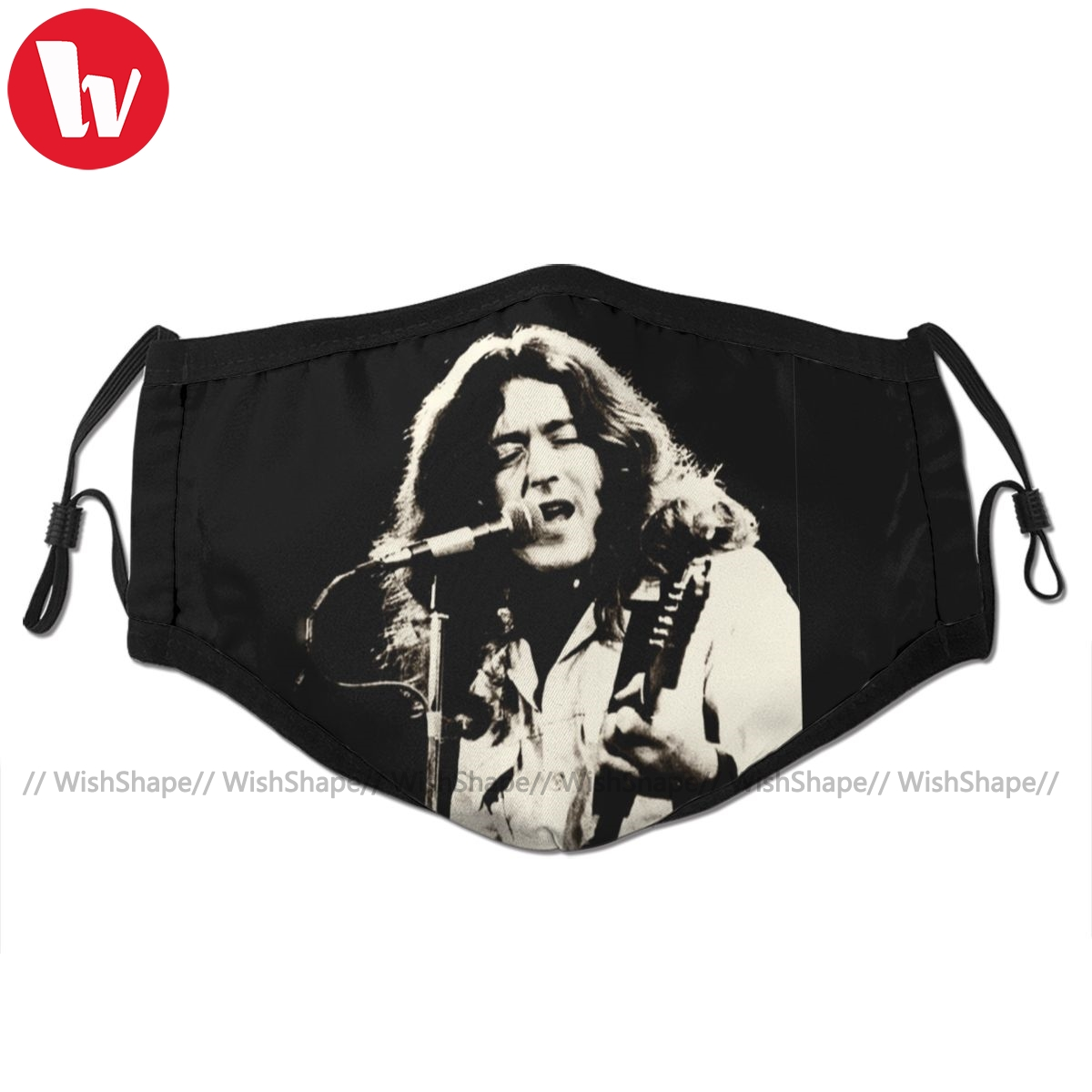 Rory Gallagher Mouth Face Mask Walk On Hot Coals Facial Mask Cool Fashion with 2 Filters for Adult
