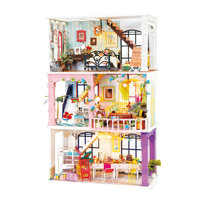 Robotime Rolife DIY Dollhouse Wooden Miniature House Handmade Toys For Birthday Gift 1