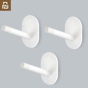 Image 1 - 3 Youpin HL Ít Tự Dính Móc Mạnh Bếp Phòng Tắm Tủ Quần Áo Móc Treo Tường 3Kg Chịu Tải Max Móc Treo Móc lên