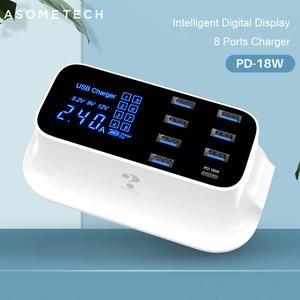 Image 1 - 急速充電タイプc usb充電器18ワットpd充電器12高速充電ハブiphone android用アダプタusb c電話充電器