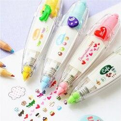 Kawaii criativo colorido laço correção fita push-up dos desenhos animados adesivo bonito livro decorativo estudantes artigos de papelaria material escolar