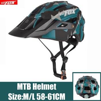 BATFOX-Casco De Seguridad para Ciclismo, color verde oscuro, para deportes al aire...
