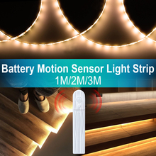 1M 2M 3M LED Strip Tape With Dimmable Motion Sensor Switch Night light DIY Closet Kitchen Cabinet strip PIR Wardrobe lamp
