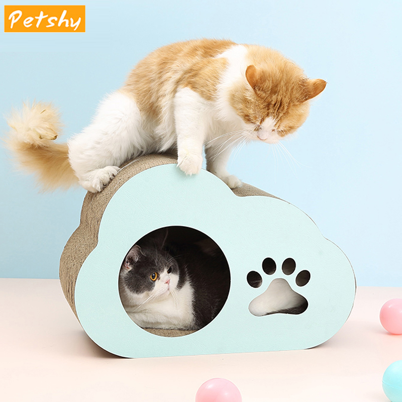 Petshy Cat Scraper Board Bed Luxury Toy Cat Scratch Guards Kitten Scratching Post Paw Protector Pad Cats Scratcher Cardboard Mat