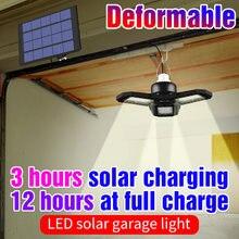 Luz LED Solar para exteriores, lámpara Deformable de 5V, lámpara de techo, luz LED para garaje, 60W, 80W, plegable