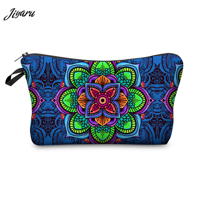 2019 Floral Printing Makeup Bag Women Cosmetic Bag Multicolor Pattern Mandala Cosmetics Pouch For Travel Ladies Pouch