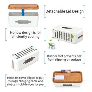 Image 3 - Boîte de gestion de câble de boîte de rangement de bande dalimentation en plastique dur de NTONPOWER avec le support et la couverture antipoussière pour la sécurité à la maison
