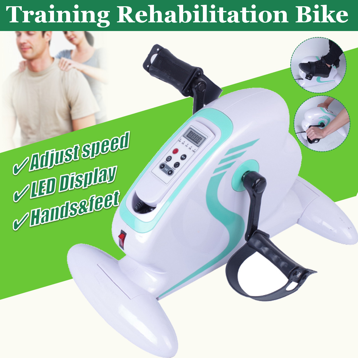 Upper and Lower Limbs Manual Electric Rehabilitation Machine for the elderly Stroke Anti-smash Pedal Bicycle